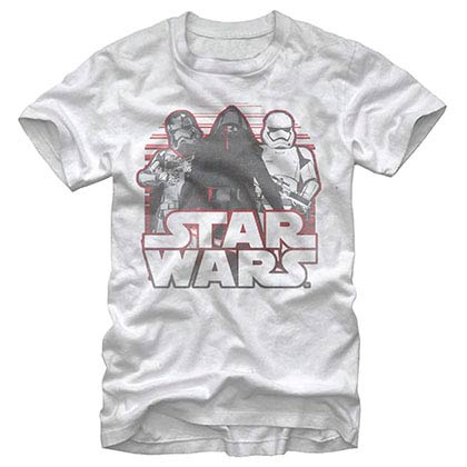 Star Wars Episode 7 Onwards White T-Shirt