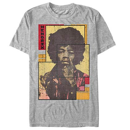 Jimi Hendrix Collaged Gray T-Shirt