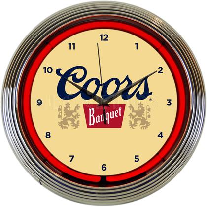 Coors Neon Clock