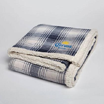 Corona Extra Plaid Fleece Throw Blanket