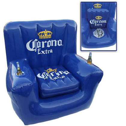 Corona Extra Inflatable Chair Cooler