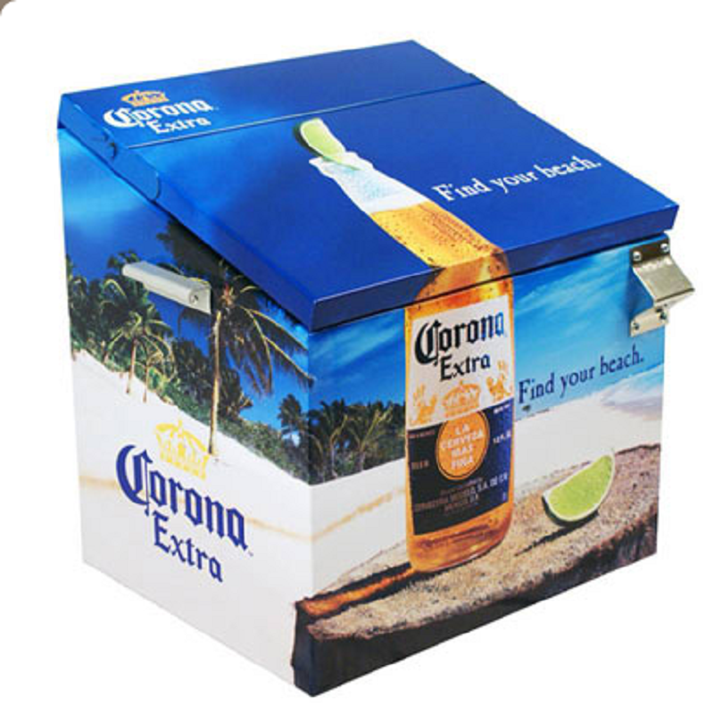Corona Extra Find Your Beach Metal Cooler