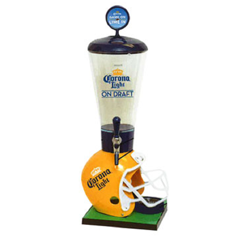 Corona Light Football Helmet 128 Oz Beer Tube