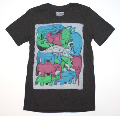 Curbside Clothing Abstract Designer T-Shirt