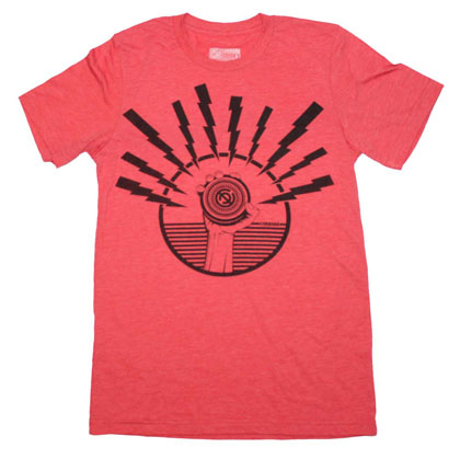 Curbside Clothing Blotz Black Heather Red T-Shirt