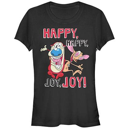 Ren & Stimpy Nickelodeon Joy Joy Joy Black T-Shirt