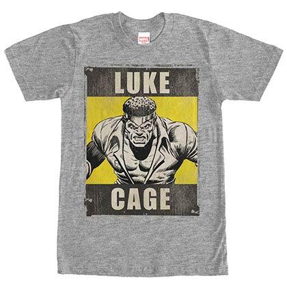 Avengers Luke Cage Gray Mens T-Shirt