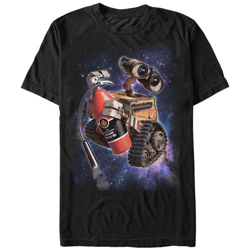 Disney pixar wall e space walle black t shirt for Pixar logo t shirt