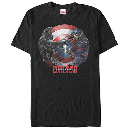 Captain America: Civil War Captain Panther Black Mens T-Shirt
