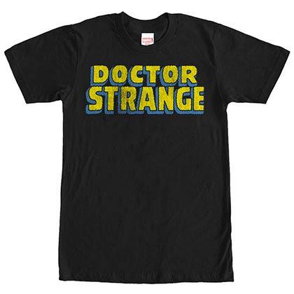 Dr. Strange Strange Logo Black Mens T-Shirt