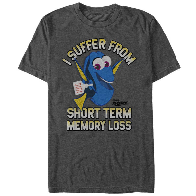 Disney Pixar Finding Dory Memory Loss Gray T-Shirt