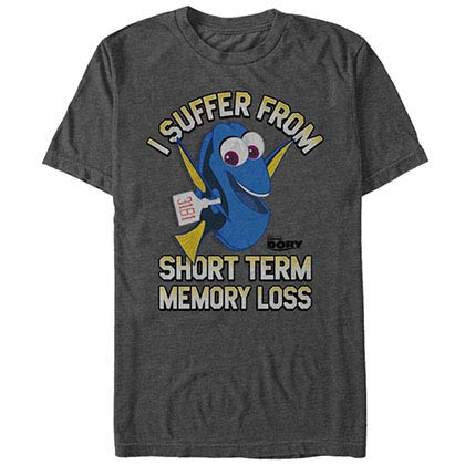 Disney Pixar Finding Dory Memory Loss Gray T-Shirt