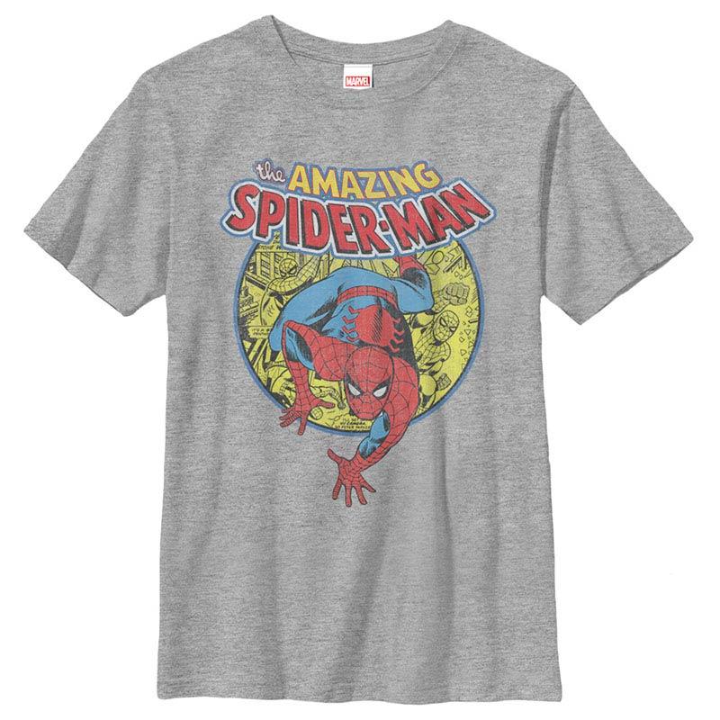 Spiderman Urban Hero Gray Youth T-Shirt