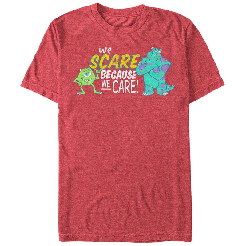 Disney Pixar Monsters Inc University Caring Red T Shirt