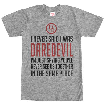 Daredevil Never Said -Gray Mens T-Shirt