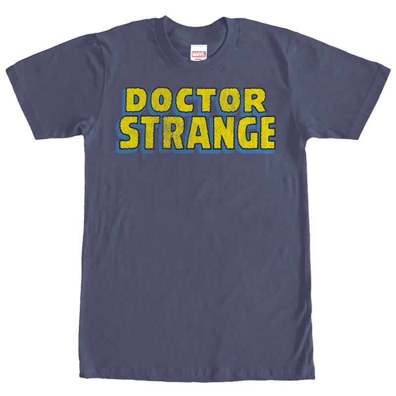 Dr. Strange Strange Logo Blue Mens T-Shirt