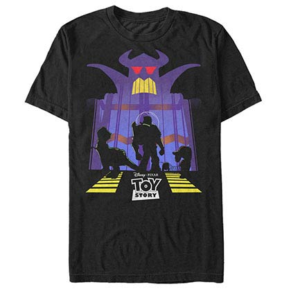 Disney Pixar Toy Story 1-3 Zurge Wrath Black T-Shirt