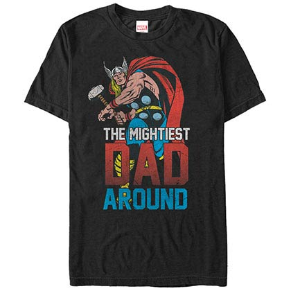 Thor Mightiest Dad Black Mens T-Shirt