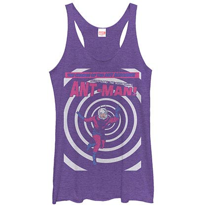 Ant-Man Ant Circle Purple Juniors Racerback Tank Top