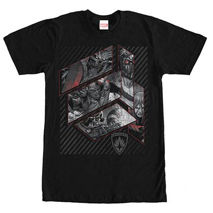 Guardians Of The Galaxy Galaxy Warriors Black Mens T-Shirt