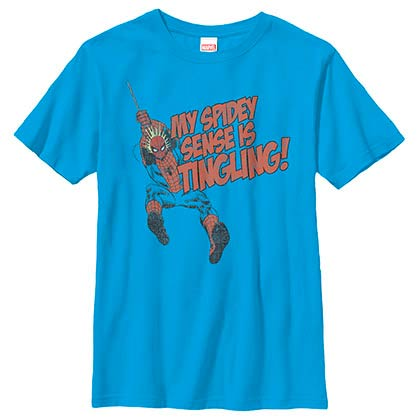 Spiderman Spidey Senses Tingling Blue Youth T-Shirt