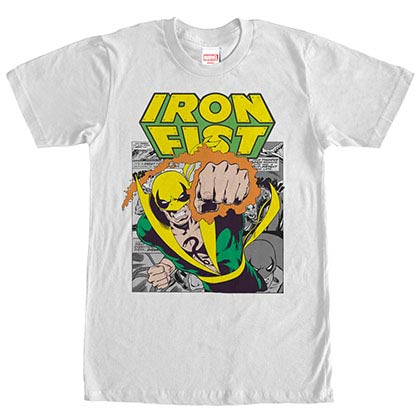 Marvel Teams Iron Punch White Mens T-Shirt
