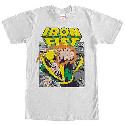 Marvel Teams Iron Punch White Mens T-Shirt