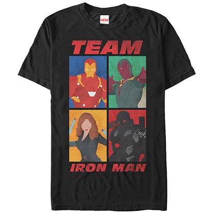 Iron Man TeamBlack Mens T-Shirt