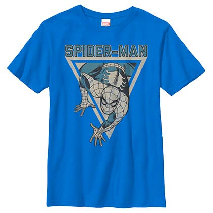 Spiderman Power Blue Youth T-Shirt