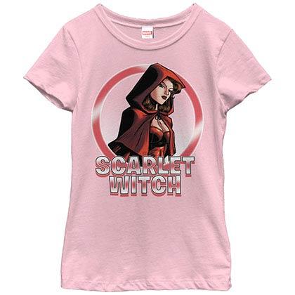Marvel Teams Scarlet Circles Pink Youth T-Shirt