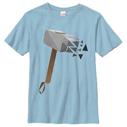 Thor Low Poly Hammer Blue Youth T-Shirt