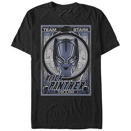 Black Panther Panther Poster Black Mens T-Shirt