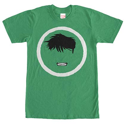 Incredible Hulk Hulk Mask Green Mens T-Shirt