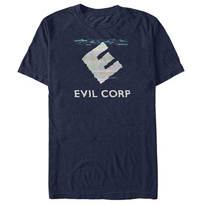 Mr. Robot Evil Glitch Blue T-Shirt