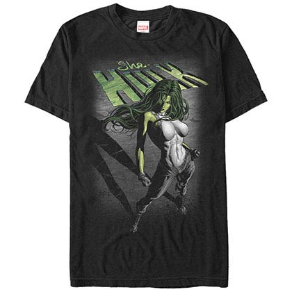 Incredible Hulk Incredible She Black Mens T-Shirt