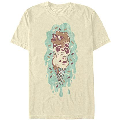 We Bare Bears Green Ice Cream Beige T-Shirt