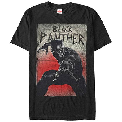 Black Panther Night Jump Black Mens T-Shirt