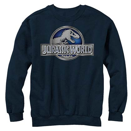 Jurassic World Basic Logo Blue Long Sleeve T-Shirt