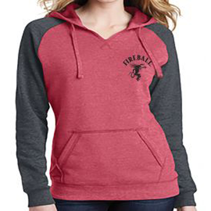 Fireball Whiskey Women's Lightweight Raglan Hoodie