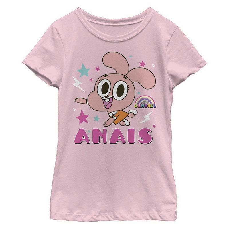 Gumball Anais Pink Youth Girls T-Shirt