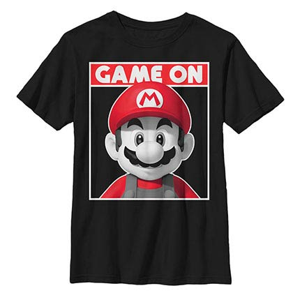 Nintendo Game On Black Youth T-Shirt