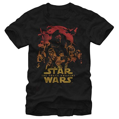 Star Wars Episode 7 Poster Out Black T-Shirt