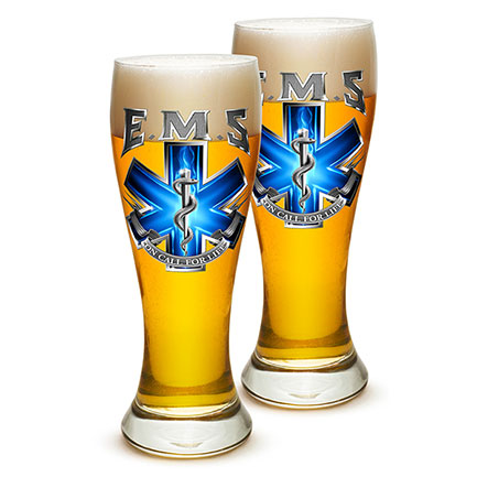EMS On Call For Life Pilsner Glass Pair