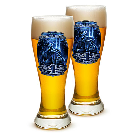 Firefighter Fallen Brothers Pilsner Glasses Set