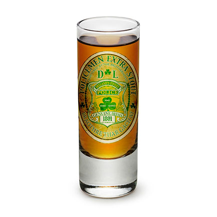 Irish Stout Police 1801 Shot Glass