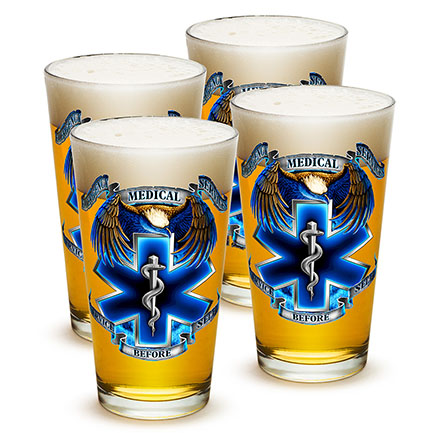 EMS Service Before Self Pint Glass Four Pack