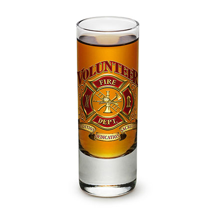 Volunteer Firefighter Shot Glass