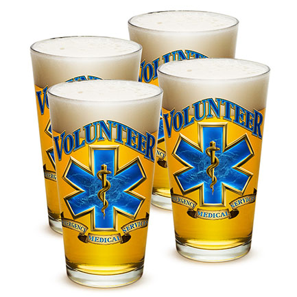 Emergency Medical Services Volunteer Pints Four Pack