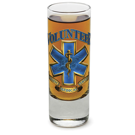 Emergency Medical Services Volunteer Shot Glass
