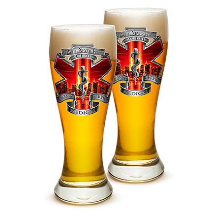 Emergency Medical Services We Will Never Forget Pilsner Glasses Set